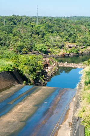 Spillway is a structure used to provide the controlled release of flows from a dam