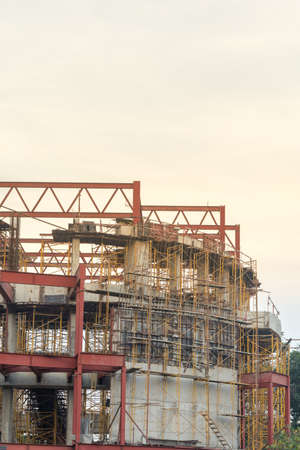 industrial district: The modern building under construction Stock Photo