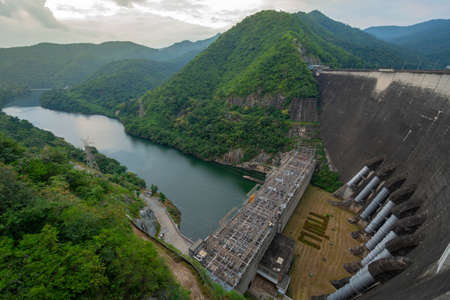 The biggest concrete dam. bhumibol dam, Thailand