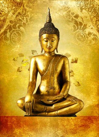 cabeza de buda: Estatua de Buda, Bangkok Tailandia
