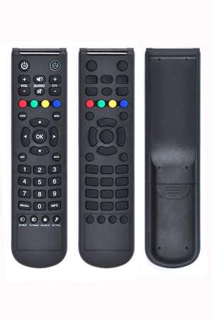 흰색에 고립 된 TV 원격 제어 스톡 사진