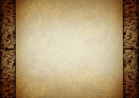 금 먼지 템플릿 태국 전통 예술 종이