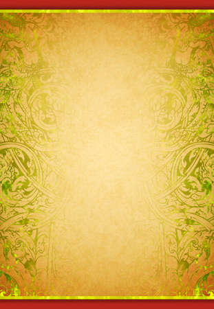 Thai tradition art paper with gold element template
