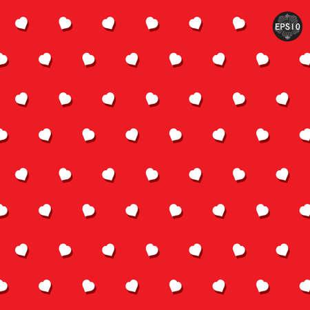 원활한 마음 폴카 도트 패턴, 벡터, EPS10