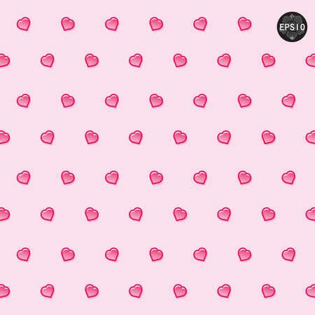 Seamless hearts polka dot pattern, vector, eps10 Illustration