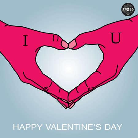Hand in love shape,vector,eps10