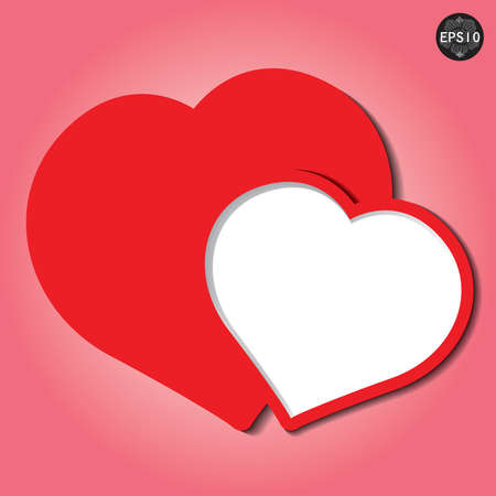 Valentines day card heart form paper, vector, eps10 일러스트