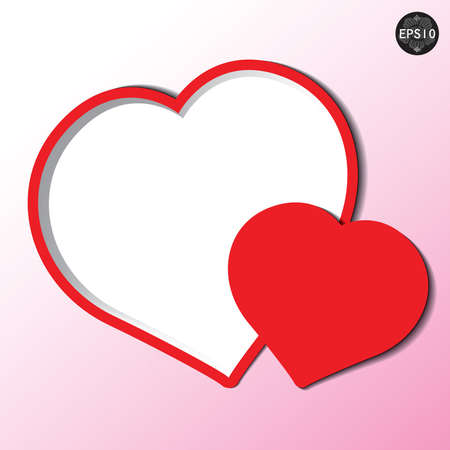 Valentines day card heart form paper, vector, eps10 Stock Vector - 17399856