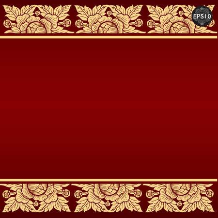 Thai art background, Vector