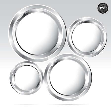 Platinum web design bubble, vector