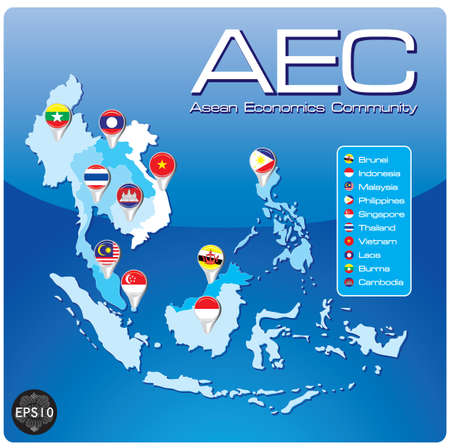 ASEAN Economic Community, AEC Stock Vector - 17399801