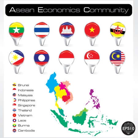 ASEAN Economic Community, AEC Stock Vector - 17399795