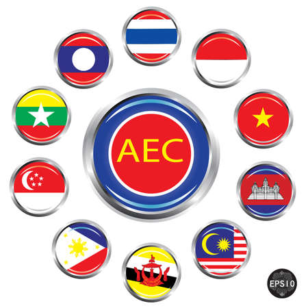 ASEAN Economic Community, AEC Stock Vector - 17399792