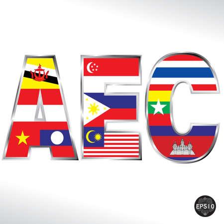 Asean Economic Community, AEC, Vector Stock Vector - 17399778
