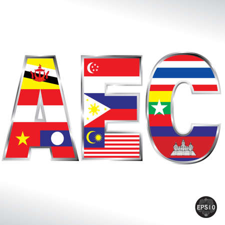 asean: Asean Economic Community, AEC, Vector