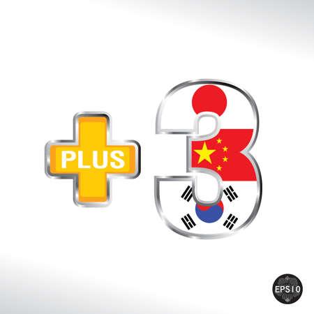 Asean Economic Community Plus Three, AEC, Vector