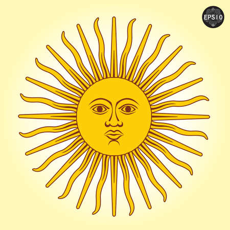 Vector illustration of Sun with faces Stock Vector - 17399758