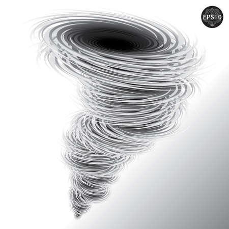 evacuacion: Ilustraci�n del tornado, hurac�n, Vector