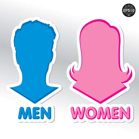unisex: Restroom Signs Illustration, Vector