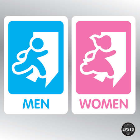 public toilet: Restroom Signs Illustration, Vector