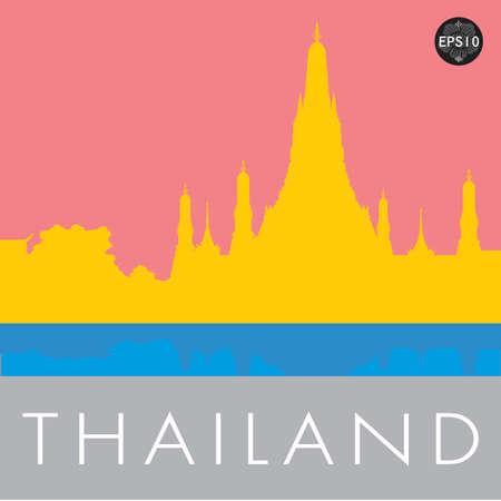 Wat Arun Temple in bangkok thailand, Vector Stock Vector - 17399752