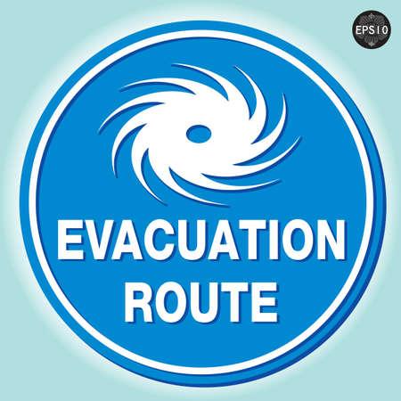 typhoon: Hurricane warning sign, Vector