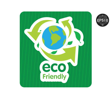 Eco icons  Ecology signs, vector Illustration