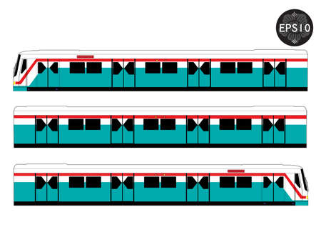 high speed train: Sky train, Bangkok Thailand, Vector Illustration
