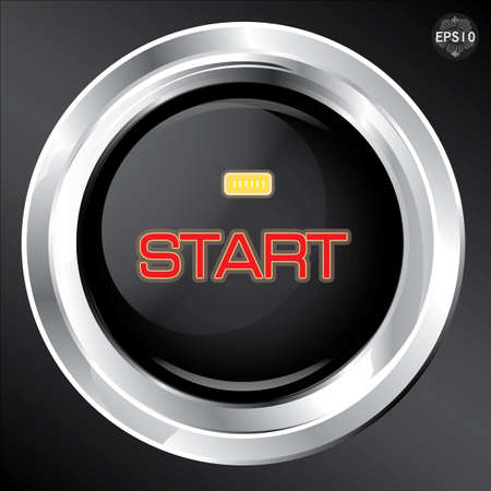 Engine start button, Vector Vector