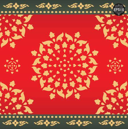 Thai art pattern, Vector
