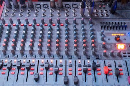 control panel lights: Mixer control
