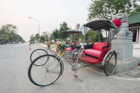 tricycle: Tricycle on the road