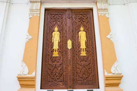 vintage door: Vintage door in thai temple