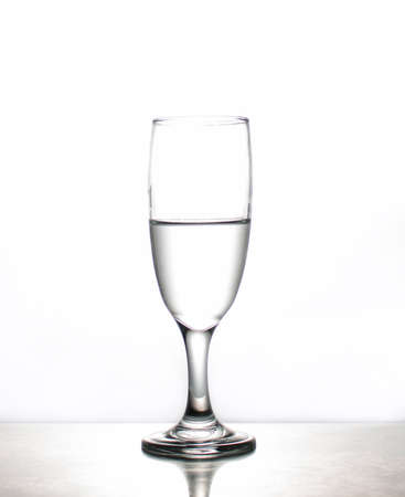 Glass of water on isoleted Stock Photo