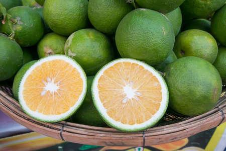 グリーン タンジェリン、タイのフルーツ 写真素材