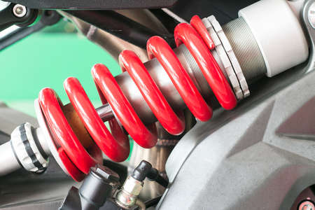 chorme: Shock absorber Stock Photo