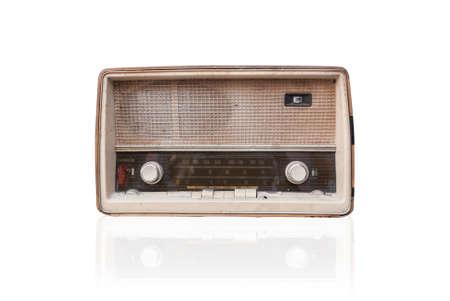 radio vintage isoler sur fond blanc