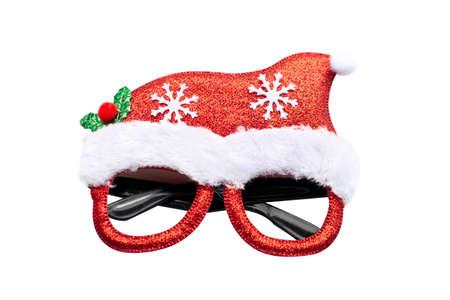 Merry Chrismas eye glasses spectacles  on white background
