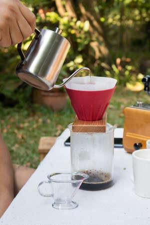 hand drip coffee - Image Banco de Imagens