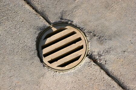 drain to a hole in the ground