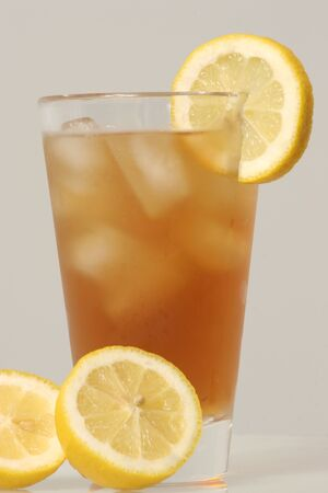 iced tea: Cold Glass of Iced Tea