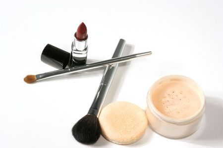 Make-up and brushes Stock Photo