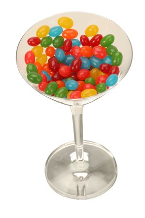martini glass of jelly beans photo