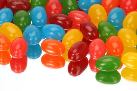 reflection of jelly beans horizontally Imagens - 245723