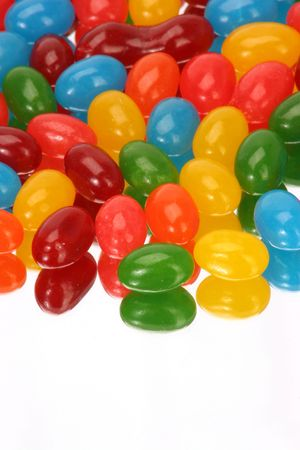 jelly beans: riflessione di jelly bean verticalmente
