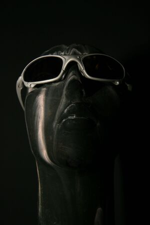 artistic bust with sunglasses Imagens