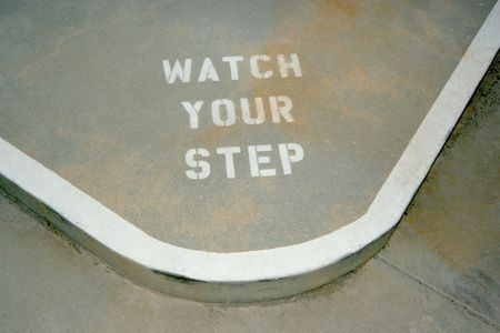 warning to watch your step