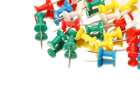 office supplies of colorful thumb tack