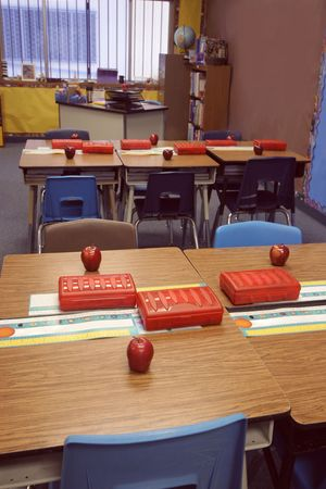 classroom is ready for first day back to school