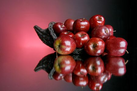 cornucopia of abundant fruit Banco de Imagens